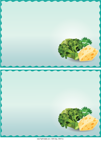 Broccoli and Cheese Recipe Cards