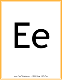 Flash Card Letter E