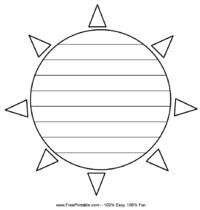 Sun Penmanship Paper