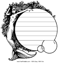Mermaid Penmanship Paper