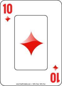 Ten of Diamonds Playing Card