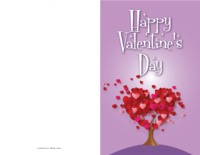 Heart Tree Valentine Card