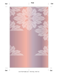 Shiny Flower Bookmark