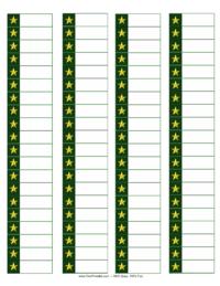Christmas Star Address Labels