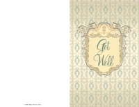 Get Well Card With Crest