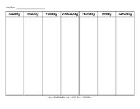 Horizontal Perpetual Weekly Calendar