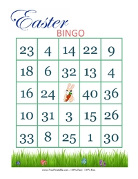 Easter Bingo Card 1