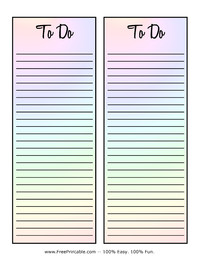 To Do List Rainbow