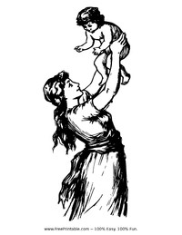 Ancient Mother and Child