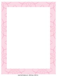 Pink Lotus Letterhead