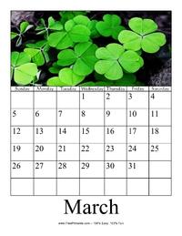 March 2017 Photo Calendar
