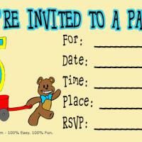 Printable 5th Birthday Party Invitation - Printable Birthday Invitation Cards - Free Printable Invitations