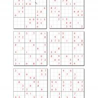 6 Difficult Sudoku Set 1