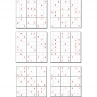 6 Difficult Sudoku Set 2