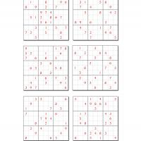 6 Difficult Sudoku Set 5