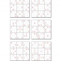 6 Difficult Sudoku Set 6