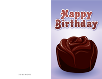 Chocolate Rose Birthday Card