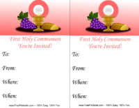 Pink Communion Invitation