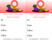 Pink Communion Invitation