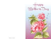 Mother's Day Pink Flower Card