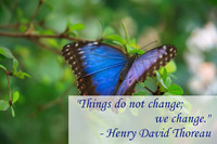 Henry David Thoreau Change Quotation