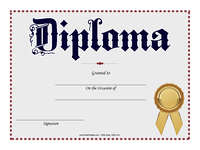 Gold Ribbon Diploma