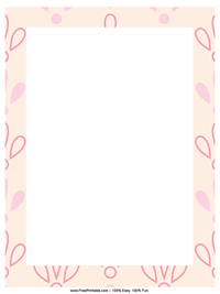 Pink Petal Letterhead