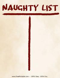 Naughty List Stationery