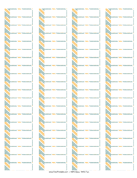 Striped Address Labels