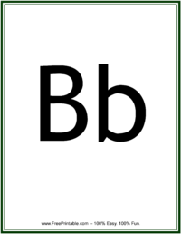 Flash Card Letter B