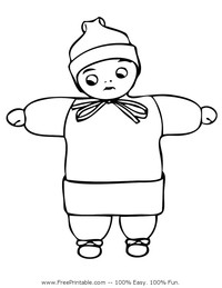 Bundled Child Coloring Page