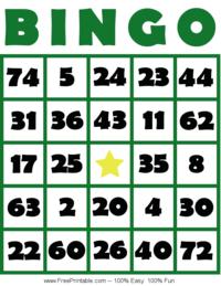 Bingo Card 2