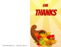 Cornucopia Thanksgiving Greeting Card