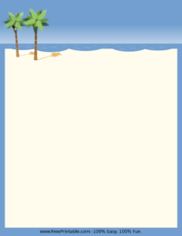 Beach Stationery