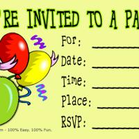 Printable 6th Birthday Party Invitation - Printable Birthday Invitation Cards - Free Printable Invitations