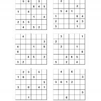 Printable 6x6Sudoku Puzzle For Kids - Printable Sudoku - Free Printable Games