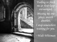 Walt Whitman Waiting Quotation