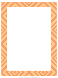 Orange Diamonds Letterhead