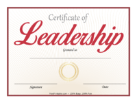 Red Leadership Certificate