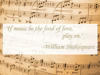 William Shakespeare Music Quotation