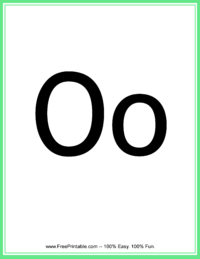 Flash Card Letter O