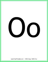 Flash Card Letter O