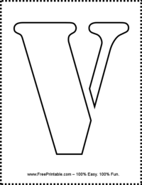 Letter V Stencil