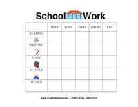 School Work Chore Chart