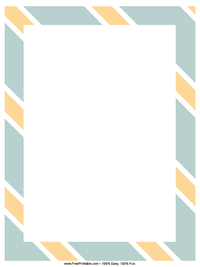 Orange Stripes Letterhead