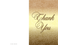 Shiny Thank You Card
