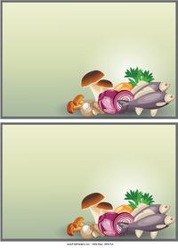 Fish and Mushrooms Recipe Cards