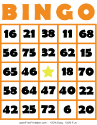 It is a picture of Dashing Free Printable Bingo Cards 1 75