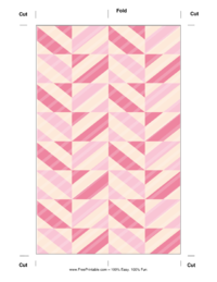 Pink Striped Bookmark