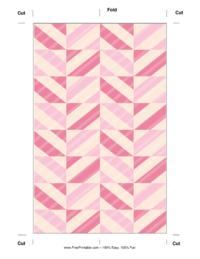 Pink Striped Bookmark